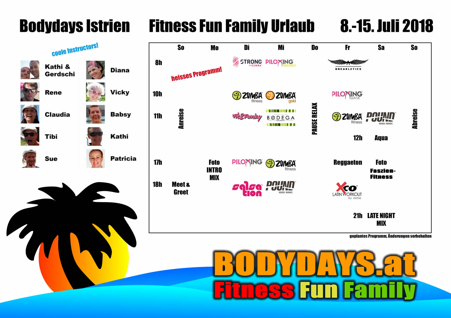 Fitness Fun Family Kurs Programm